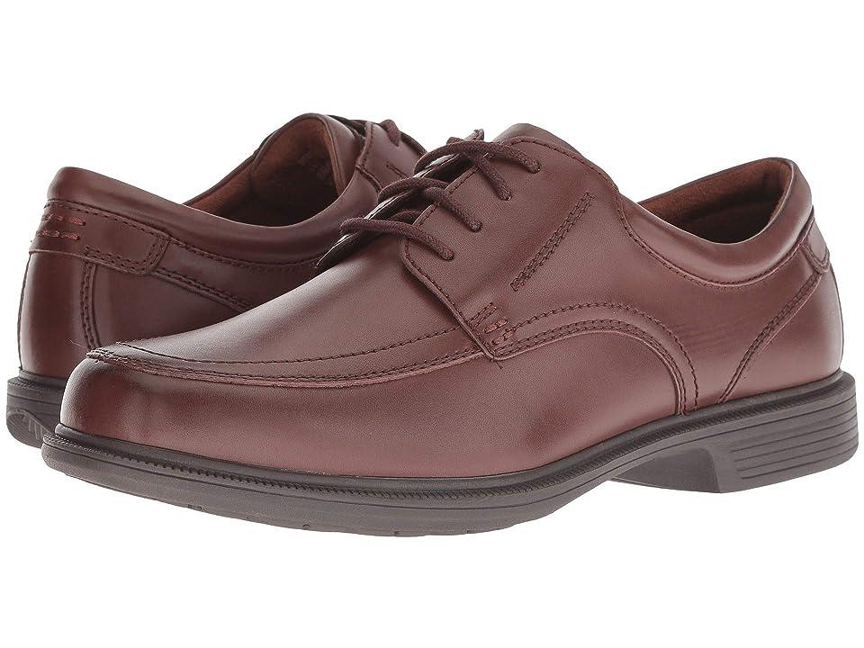 Nunn Bush Bourbon Street Moc Toe Oxford with KORE Slip Resistant Walking Comfort Technology (Cognac) Men