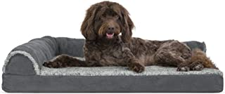 Furhaven Pet Dog Bed | Orthopedic L Shaped Chaise Lounge Sofa-Style Living Room Corner Couch Pet Bed w/ Removable Cover for Dogs & Cats - Available in Multiple Colors & Styles