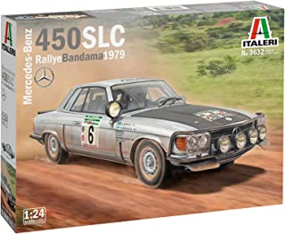 Italeri 3632S 1:24 Mercedes 450 SLC Rally d Bandama'79, Free-Standing Model Building, Crafts, Hobby, Gluing, Plastic kit, ...