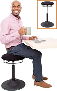 Stand Steady Active Motion Stool | Ergonomic Tilting Desk Chair with 360° Swivel Seat | Height Adjustable Rocking Stool | ...
