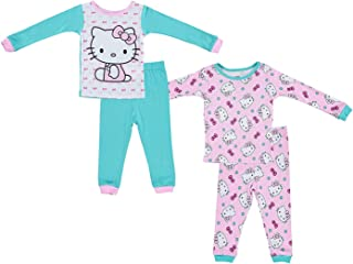 a5a2ca3e9 Sanrio Girls Hello Kitty Pajamas - 2-Pack of 2-Piece Long Sleeve Pajama