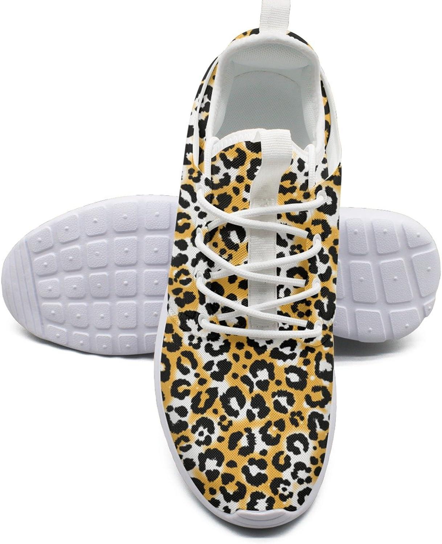 ERSER gold Leopard Print Running shoes Wide Width Women