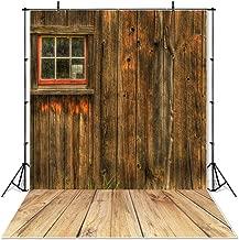 Mehofoto Rustic Barn Thanksgiving Backdrop Fall Harvest Wooden Floor Photography Background 5x7ft Vinyl Autumn Harvest Rustic Barn Backdrops