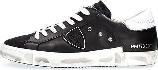 Philippe Model Sneaker Paris X in Pelle E Suede Nero E Spoiler, Taglia UK: