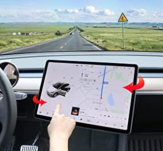 Tpofit for Tesla Model 3 Model Y Swiveling Screen Rotating Mount Kit Center Console Updated Holder Version Dashboard Touch Accessories