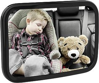 MoKo Baby Car Mirror, Shatterproof Acrylic Backseat Mirror for Car Rearview Infants Adjustable Rear Facing Mirror with Wid...