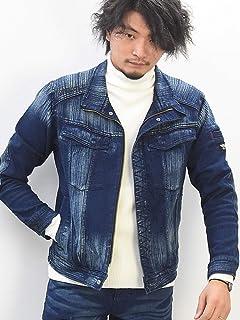 [BMC ブルーモンスタークロージング] ワークデニムジャケット ストレッチデニム アーバン3rdジャケット メンズ U03W スイッチブレード加工