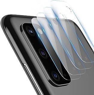TAMOWA skottsäker glasskyddsfilm för Samsung Galaxy S20, 4 delar, kameralins glasfilm, transparent skyddsglas för Samsung ...