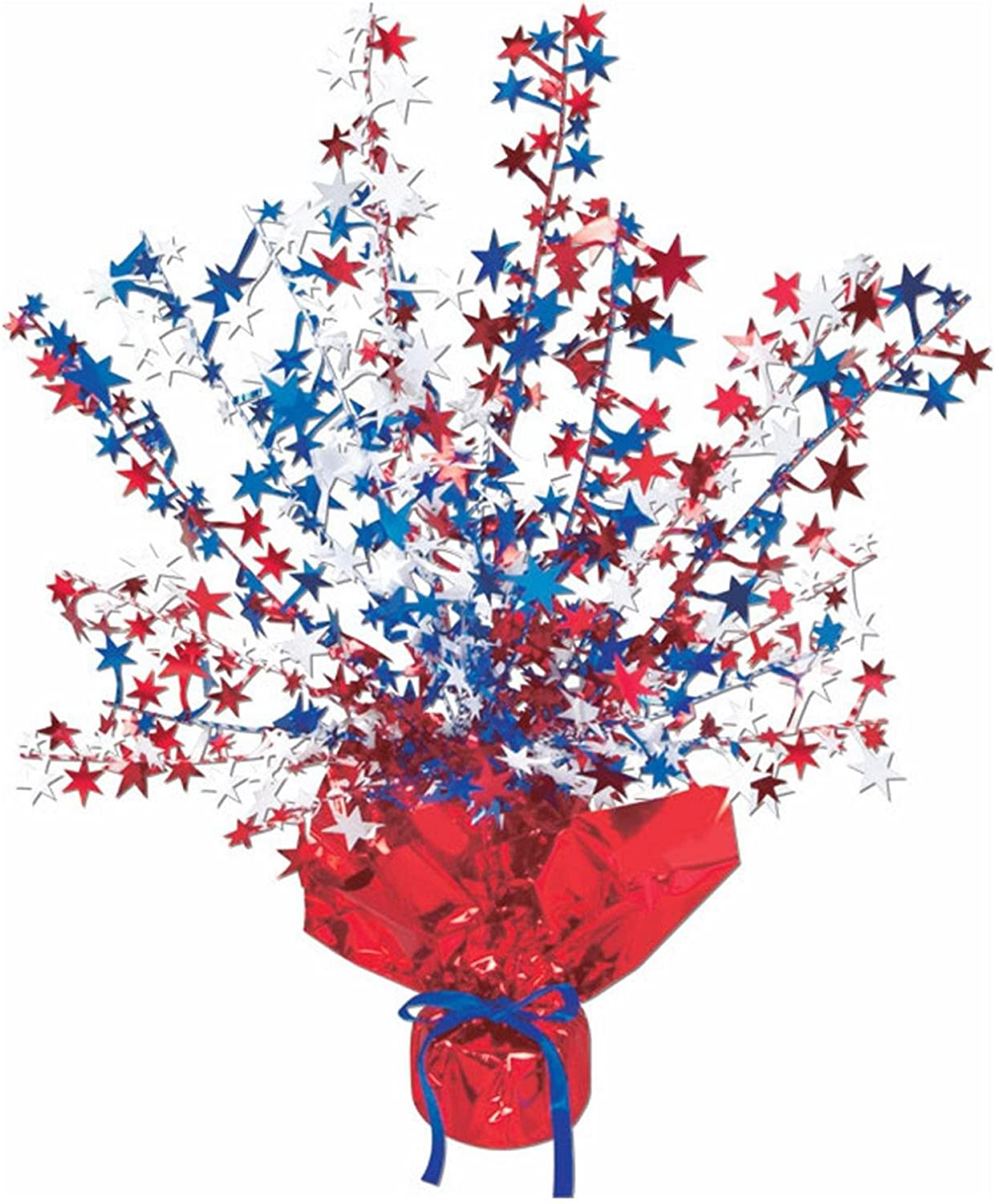 Club Pack of 12 Red, White and bluee Star Gleam 'N Burst Centerpiece Party Decorations 15