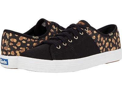 Keds Kickstart 50/50 Canvas Leopard (Black/Tan) Women