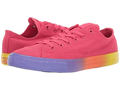 Converse Kids Chuck Taylor All Star Rainbow Ice Ox (Little Kid/Big Kid) (Strawberry Jam/Wild Lilac/Black) Girls Shoes