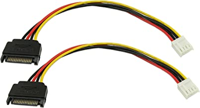 zdyCGTime 8-Inch 4 Pin Floppy Drive to 15 Pin SATA Male Power Cable(2-Pack)