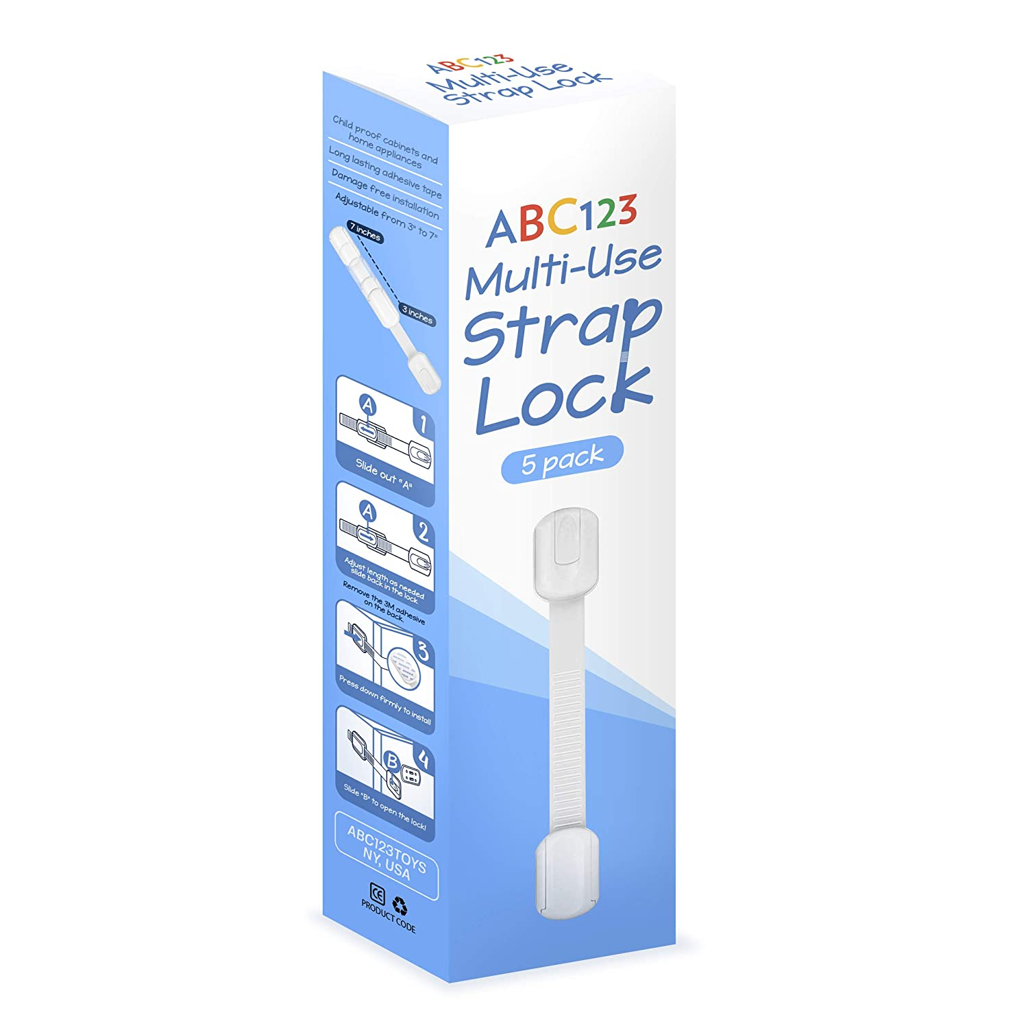 ABC123 Rare - Child Safety Strap Locks Max 41% OFF for Pack Baby 5 Proofing Cab