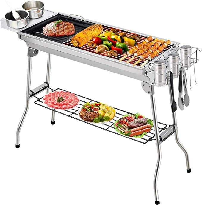 Aiglam Portable Charcoal Grill - The Most Durable and Sturdy