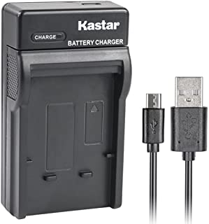 Kastar Slim USB Charger for Casio NP-90 NP90 work with Casio Exilim EX-H10 EX-H15 EX-H20G EX-H20GBK EX-H20GSR EX-FH100 EX-FH100BK Cameras