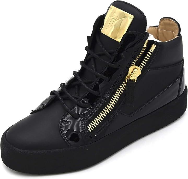Scarpa giuseppe zanotti donna sneaker sportiva casual tempo libero art. rs80000 36 nero black B07Z27FPC6