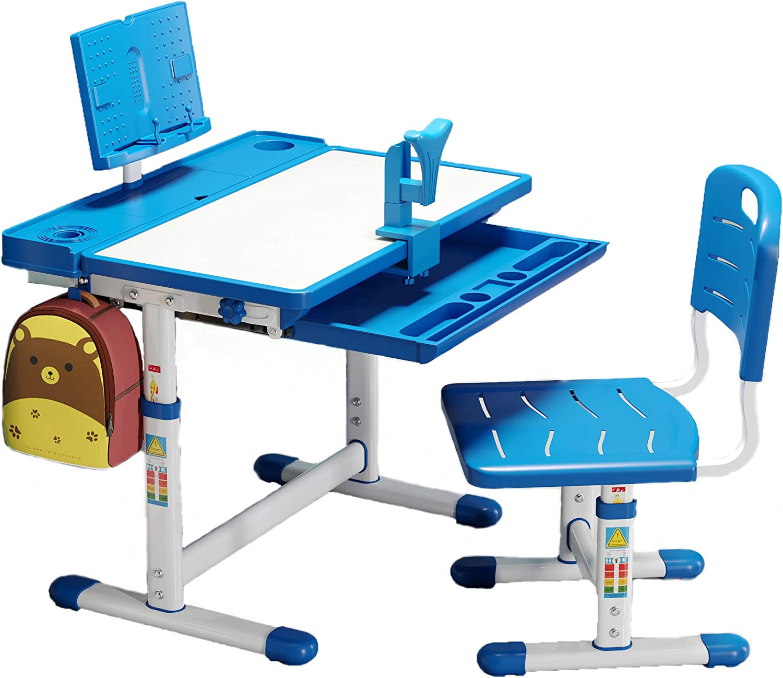 BOJOY Kids Desk and Chair Adjustable Student School Set Sacramento Mall Height Max 70% OFF