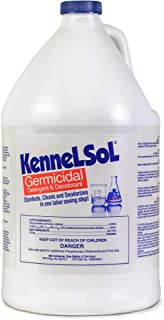 KennelSol, One Step Cleaner, Hard Surface Germicidal Cleaner & Disinfectant, Kennel Cleaner, Parvo Disinfectant, Kills Bacteria & Viruses, Non-Rinse, Non-toxic, Odor Remover, Pro & Home Use (1 Gallon)
