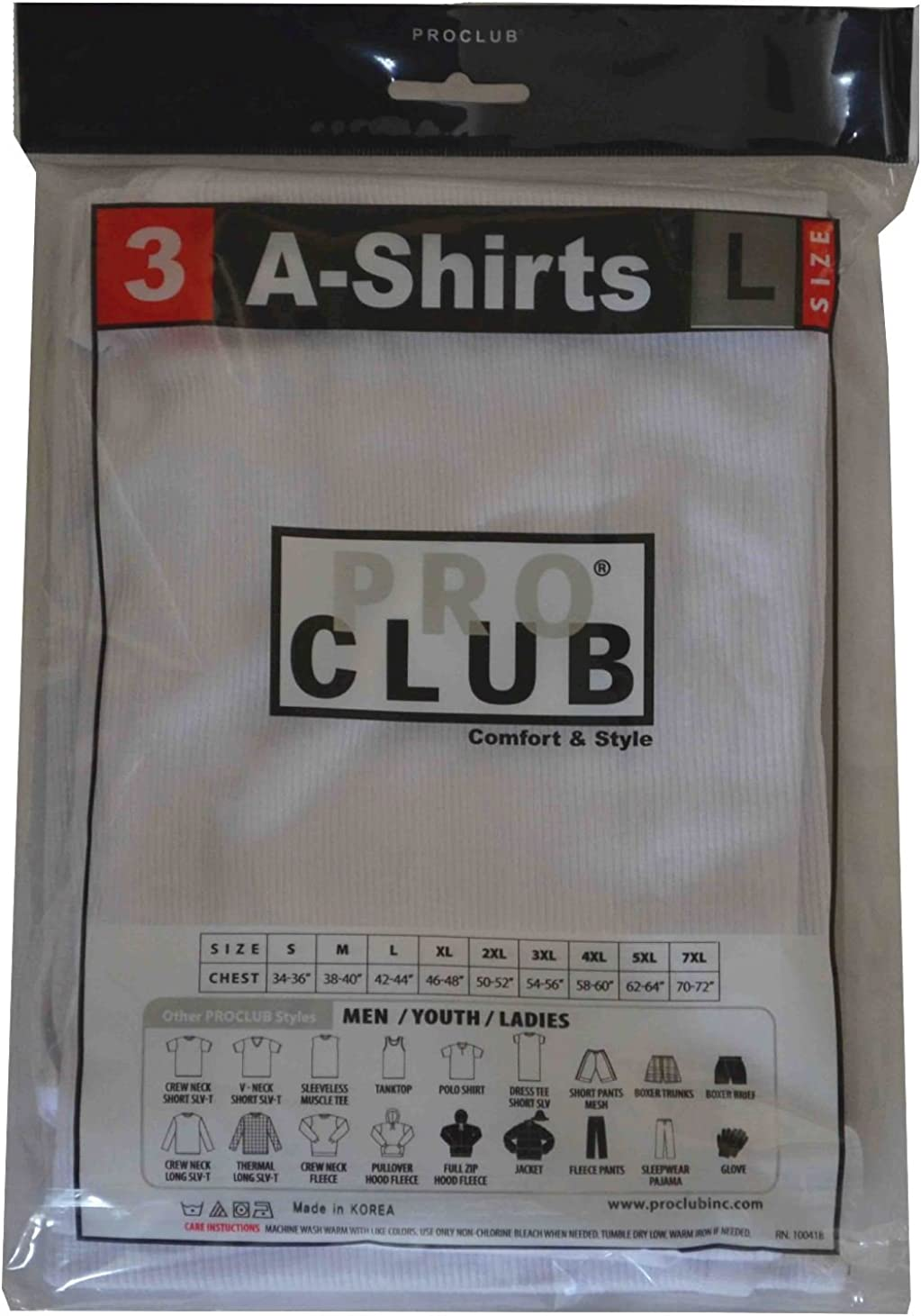 Pro Club Boy's Cotton A-Shirt White