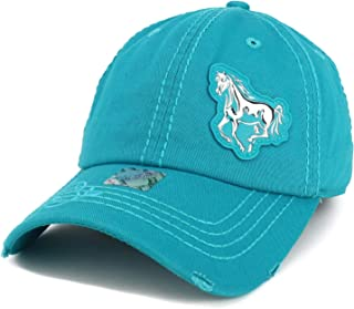 Horse High Frequency Patch Cowgirl Print Bill Baseball Cap