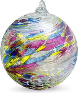 Friendship Ball Harmony 4 Inch Kugel Iridized Witch Ball by Iron Art Glass Designs