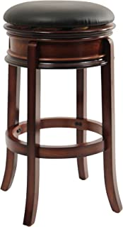 Boraam Magellan Bar Height Swivel Stool, 29-Inch, Brandy
