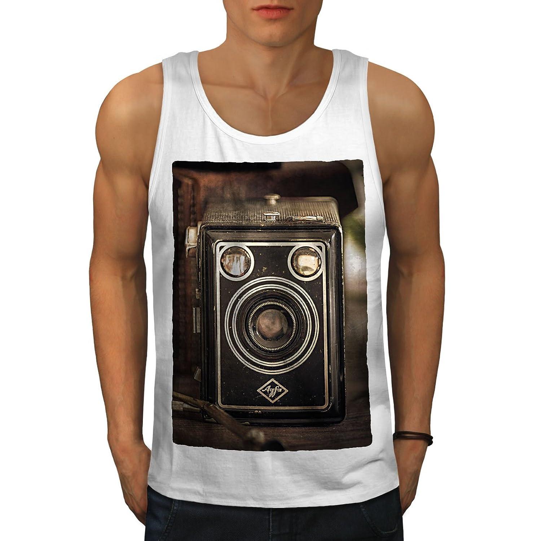 Wellcoda 写真 カメラ 古い ビンテージ 男性用 S-2XL タンクトップ