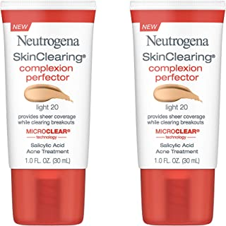 Neutrogena Skinclearing Complexion Perfector With Salicylic Acid, Light, 1 Fl. Oz. (Pack of 2)