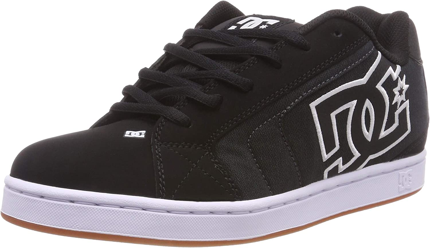 DC shoes Mens NET SE Nubuck Black Herringbone Trainers 10.5 US