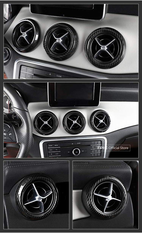 Xyh Innenverkleidung f/ür AMG GLA CLA-Mittelkonsolen-Armaturenbrettverkleidung im Carbon-Stil Upgard Air Vent Surround Cover Autodekoration