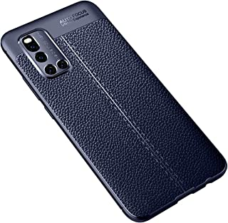 JINJIN for For VIVO V19 Litchi Texture TPU Shockproof Case(Black) Cover (Color : Navy Blue)