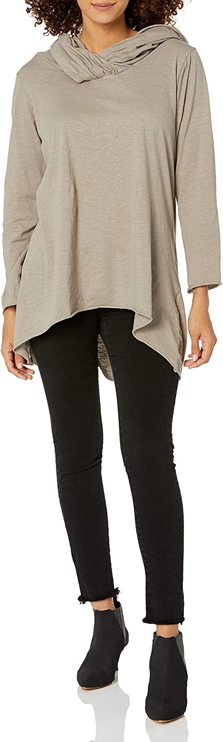 M Made in Italy Women's Cowl Neck Tunic
