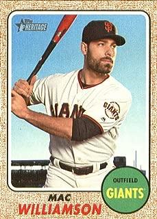 2017 Topps Heritage High Numbers #629 Mac Williamson Giants MLB Baseball Card NM-MT