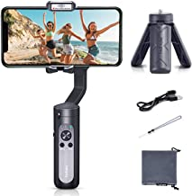 Smartphone Gimbal hohem iSteady X, A Foldable 3-Axis Gimble Stabilizer, with The One-Click Inception and Dolly-Zoom, Supports iPhone 11 pro max and Smartphones (Only 259G, Black)