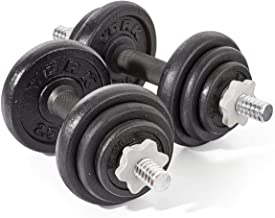 ZXQZ Small Dumbbells 2 X10 Kg Dumbbell Weight Set,Black Fitness Cast Iron Spinlock Dumbbell,Adjustable Hand Weights Set Fi...