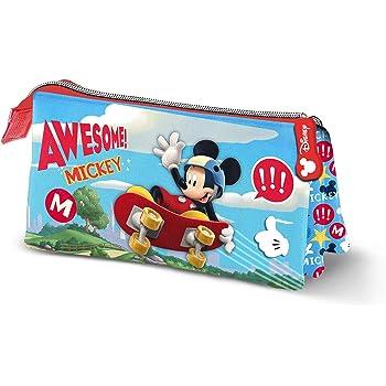 Mickey Mouse Skater-Estuche Portatodo Triple: Amazon.es: Equipaje