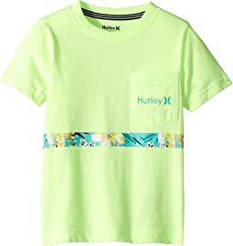 Hurley Kids Overgrown Stripe Tee (Big Kids)
