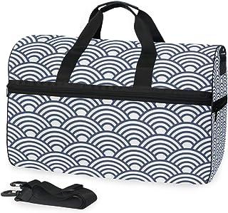 MONTOJ Reisetasche, gefaltet, rund, dunkelblauer Hintergrund, übergroß, Segeltuch, Reisetasche