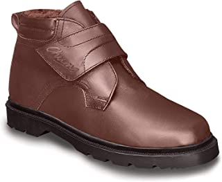 Mens Real Leather Warm Lined Touch Fastening Boots Color