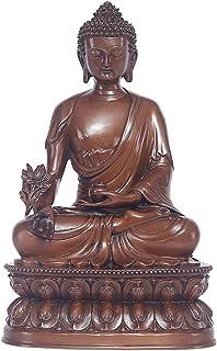 FTFTO Attrezzatura Vivente Meditazione Statua di Buddha Figurine di Rame Puro Ornamenti Sakyamuni Buddha Amitabha Decorazi...