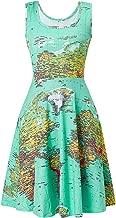 world map print dress