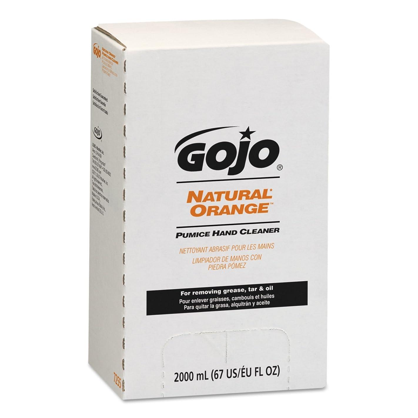 エスカレート異議無駄なNATURAL ORANGE Pumice Hand Cleaner Refill, Citrus Scent, 2000 mL, 4/Carton (並行輸入品)