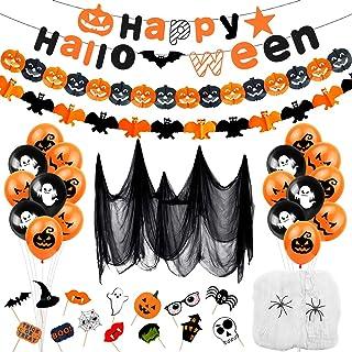 Bluelves Halloween decoratie kinderset, Halloween decoratie kinderfeest, Happy Halloween decoratie slinger, Halloween ball...