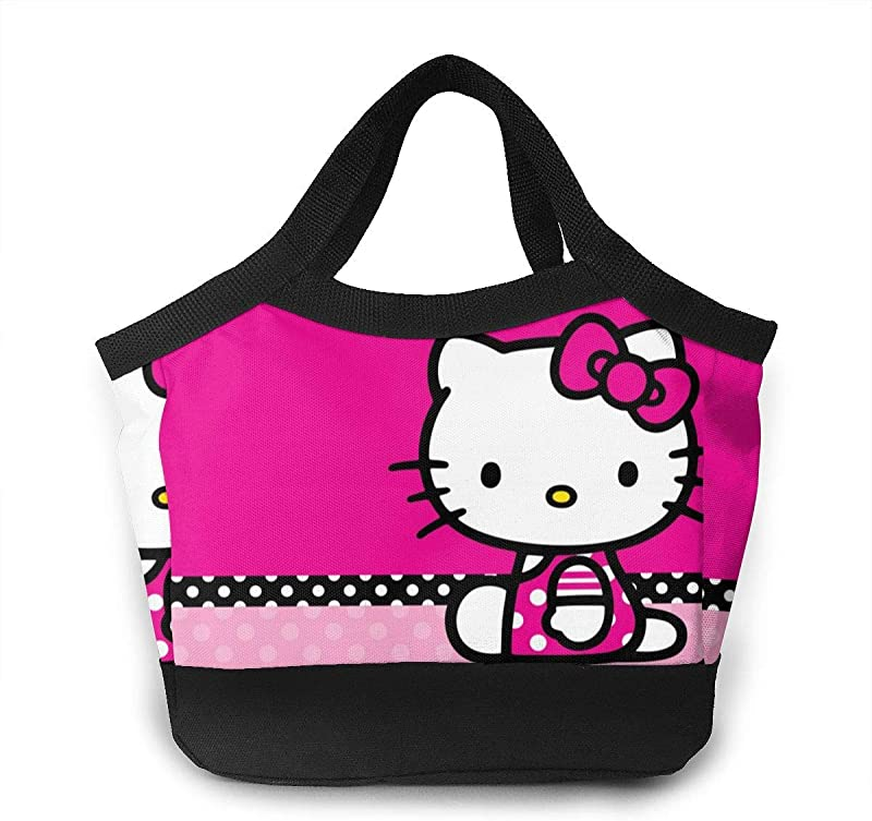 WUWEIDONG Lunch Bag Hello Kitty Insulated Lunch Bag Leak Proof Lunch Tote Bag For Women Men Teens Girls Kids Adults