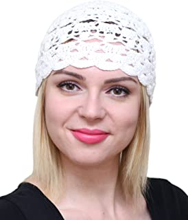 Fascinator Hats for Women Ladies Summer Beanie Cotton Cloche Crochet caps