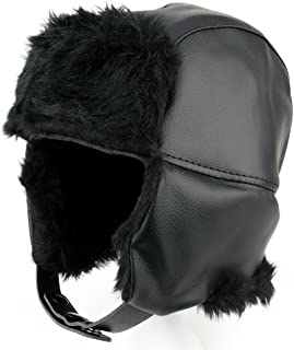 Armycrew Vinyl Fur Trimmed Trooper Hat with Insulated Ear Flaps