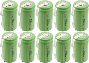 10x Exell 1.2V 5000mAh NiMH C Size Rechargeable Batteries w/Tabs use with high power static applications (Telecoms UPS and Smart grid) radio controlled devices electric tools electric mopeds USA SHIP