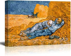 Noon,Rest from Work by Vincent Van Gogh - Canvas Print Wall Art Famous Painting Reproduction - 24