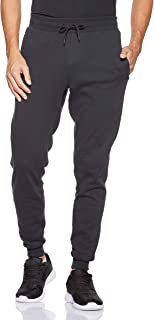 Under Armour Men's Rival Fleece Wordmark Logo Jogger Pants, Black (Black/White), Medium