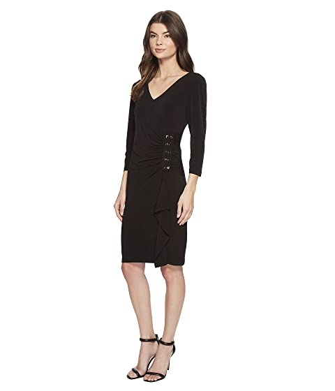 Calvin Klein Dress w/ Lacing on Side Black Clearance For Cheap 6tH1LOr